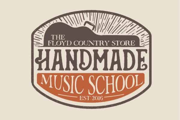 Handmade Music School Logo with Background
