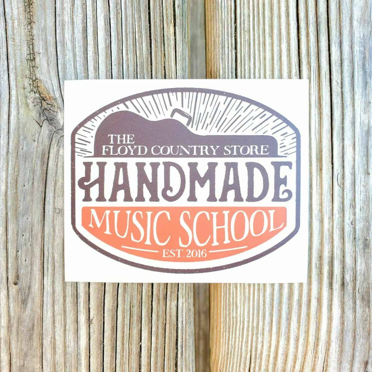 Handmade Music School Sticker